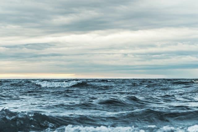 море, не се вижда бряг или суша
