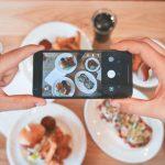снимане на храна със смартфон